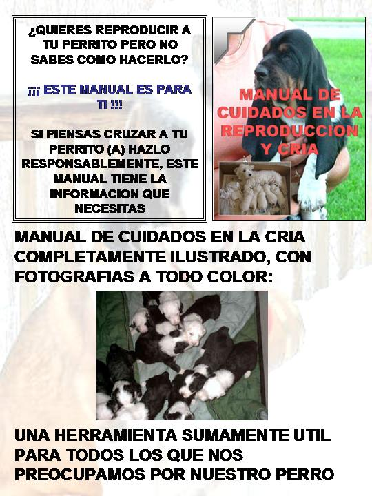 Manual de cuidados en la reproduccion y cria para perros for Manual cria de cachamas