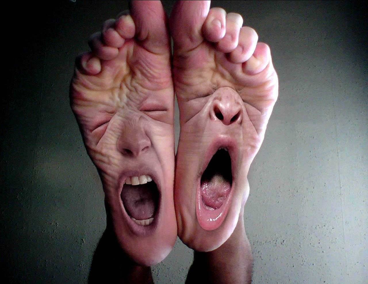 Die Creme von gribka der Beine und der Nägel