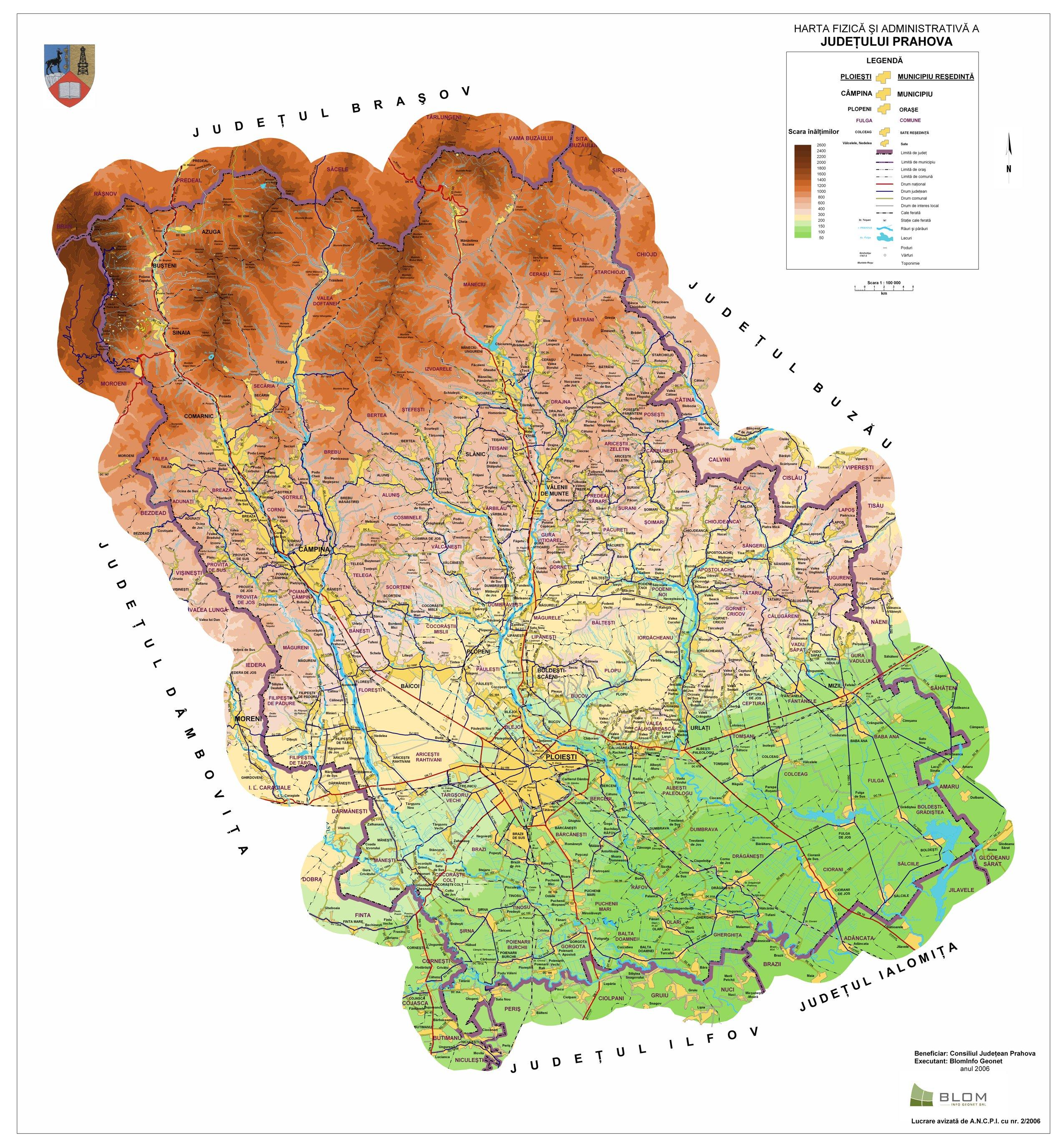 Harta Administrativa Prahova