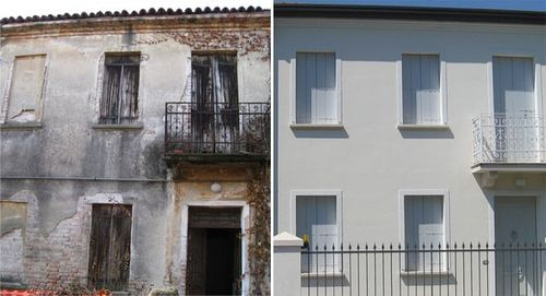 Costo rifacimento intonaco facciata confortevole - Facciata esterna casa ...