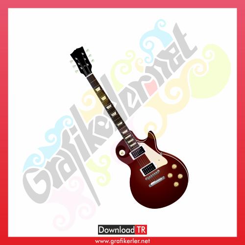 Elektro Gitar Vektör