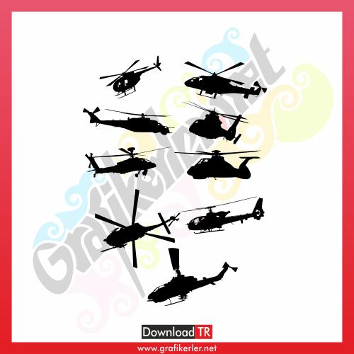 Helikopter Vektör