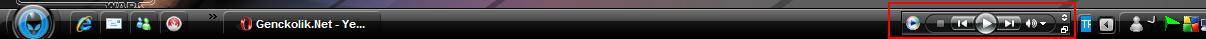 adim1 - Windows media player� ara� �ubu�u yapmak
