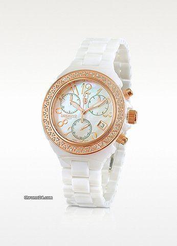 Reloj Lancaster italy de ceramica y brillantes    Linearte Moda Y ... f6e38ecb28bf