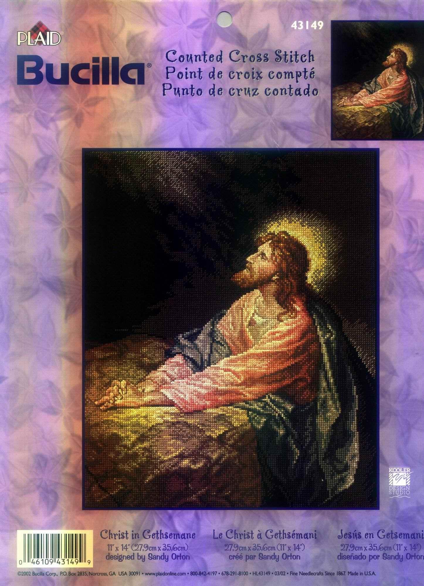 Jesus En Punto De Cruz