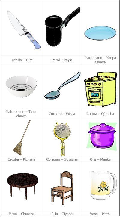 Quechualael cosas en quechua - Cosas para cocina ...