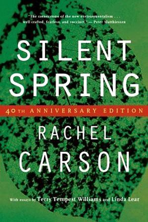 a description of rachel carsons book silent spring Rachel carson marine biologist and author of silent spring who exposed the harmful affects of pesticides silent spring a book written to voice the concerns of environmentalists start studying silent spring learn vocabulary, terms, and more with flashcards, games.