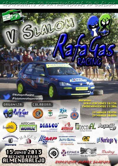 V Slalom Rafagas Racing - Almendralejo Cartelslalom13
