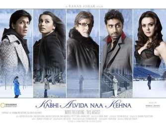 Kabhi Alvida Naa Kehna Rani Mit Shahrukh Khan, Rani Mukherjee, Abhishek Bachchan, Preity Zinta und ...