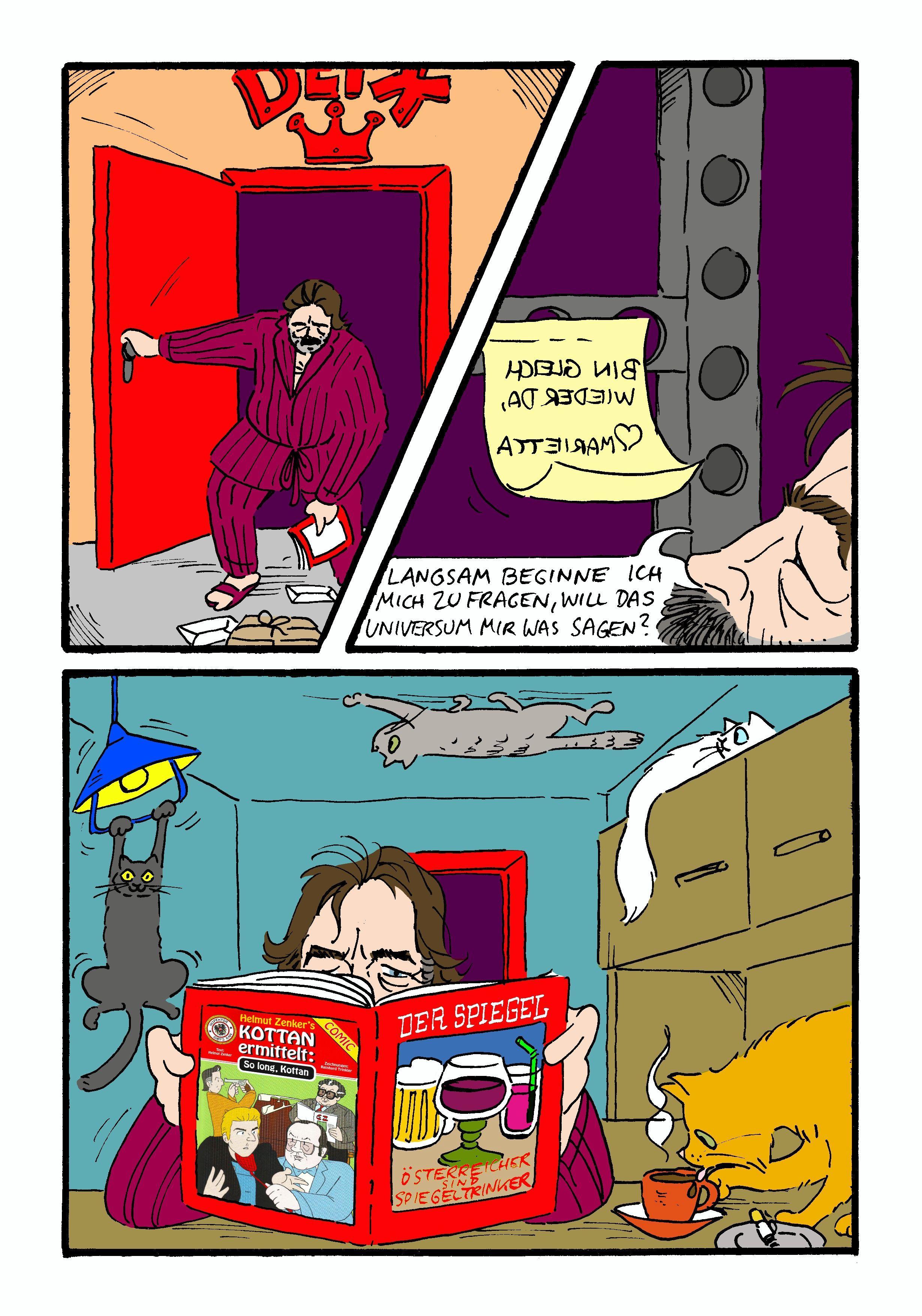 Manfred Deix Comic von Reinhard Trinkler