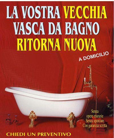 Creativit per la casa vasca da bagno rovinata come risolvere - Vasca da bagno rovinata ...