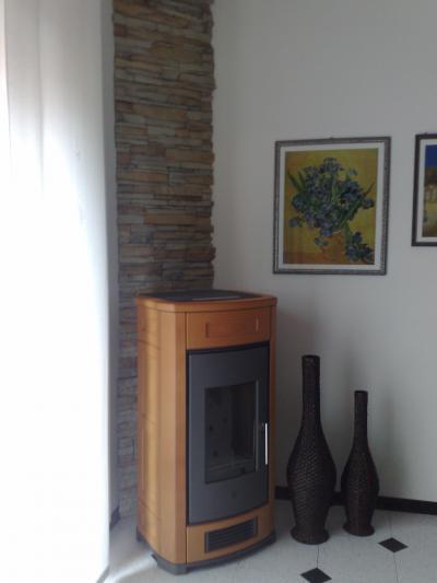 Creativit per la casa stufe caminetti a legna e pellet - Stufe a pellet a parete ...