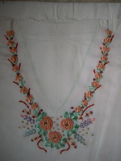 The art of ribbon embroidery by dr riddhi raval dress