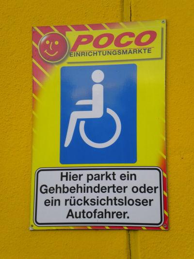 Rolliwelten e v abenteuer behindertenparkplatz - Poco kempten ...