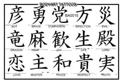 rudis tattoo art chinesische schriften. Black Bedroom Furniture Sets. Home Design Ideas