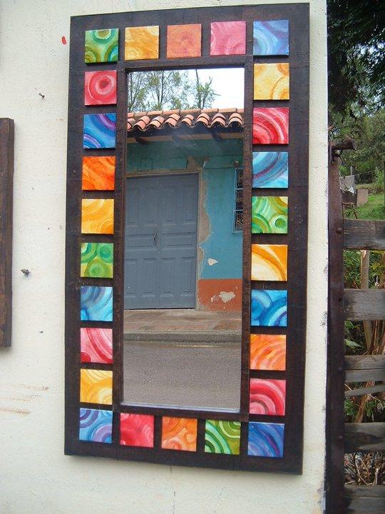 Santana ceramica marcos de espejo for Espejos de pared madera