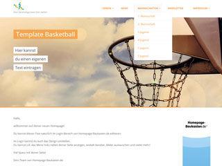 Vorschaubild Template für deinen Basketball Verein