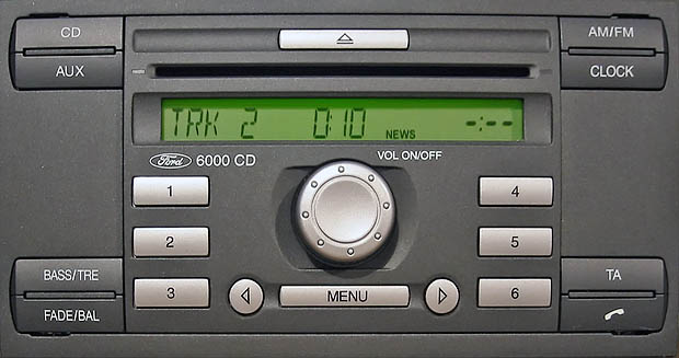 Ford (Форд) инструкция для магнитолы ford 6000cd.