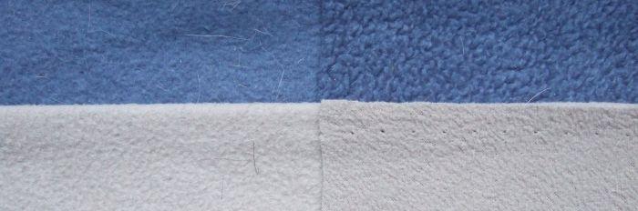 Verschiedene Oberflächen von Fleece