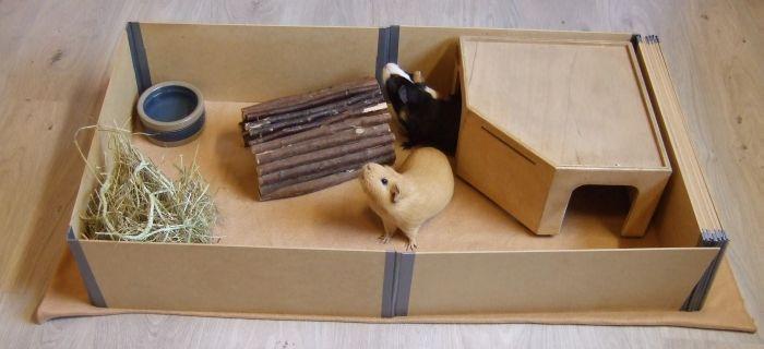 halber Quadratmeter Gehege Meerschweinchen