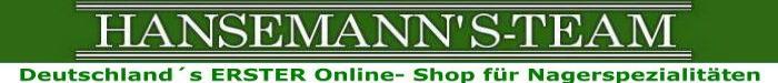 Hansemanns Team - leckere Sachen für Meerschweinchen kaufen