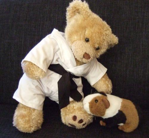 Karate-Bär greift Meerschweinchen an
