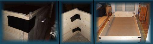 Umrandung des provisorischen Meerschweingeheges
