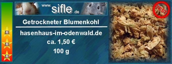Getrockneter Blumenkohl
