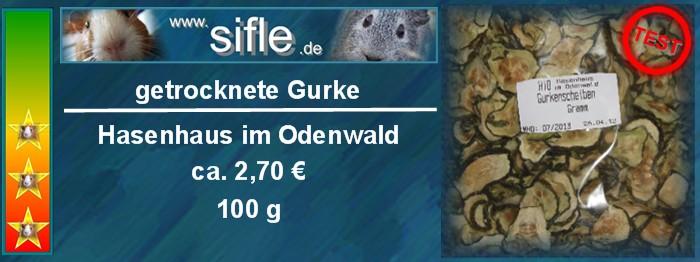 Getrocknete Gurkenscheiben vom Hasenhaus im Odenwald im Test