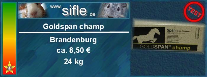 Einstreu Goldspan champ