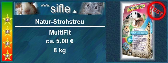 Meerschweinchen Einstreu MultiFit Natur Strohstreu