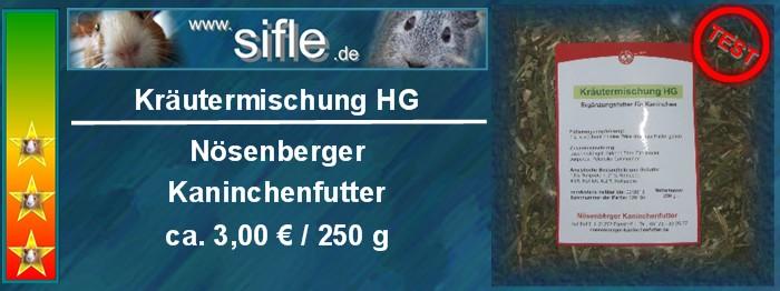 Kräutermischung HG von Nösenberger Kaninchenfutter im Test