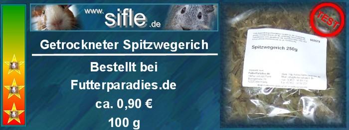 getrockneter Spitzwegerich