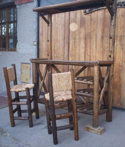 Sillas rusticas de campo fotos for Sillas de madera rusticas