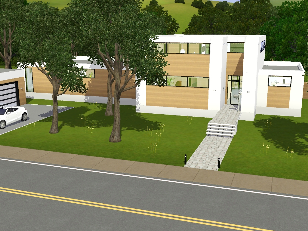 interieur maison moderne sims 3. Black Bedroom Furniture Sets. Home Design Ideas