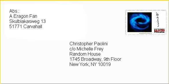 Brief An Christopher Paolini Skulblakasdeskulblakasde