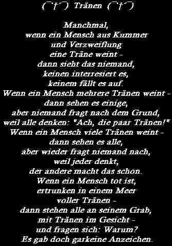 SteffiŽs - Gedichte/Sprüche