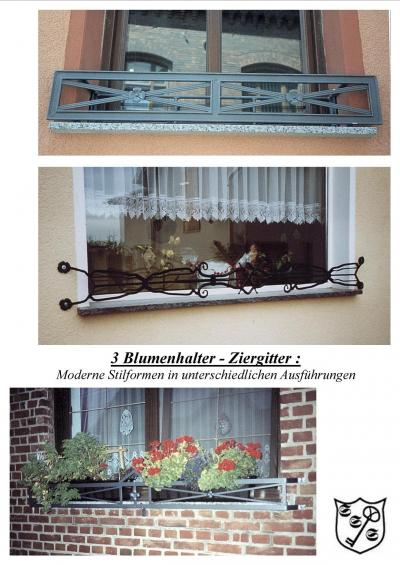 schmiedeeisen f r anspruchsvolle gitter f r fenster t ren blumenhalter. Black Bedroom Furniture Sets. Home Design Ideas