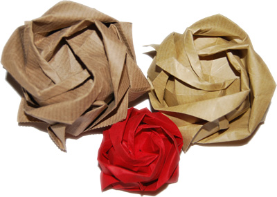 Origami-Instructions.com: Kawasaki Rose, version 2 | 285x400