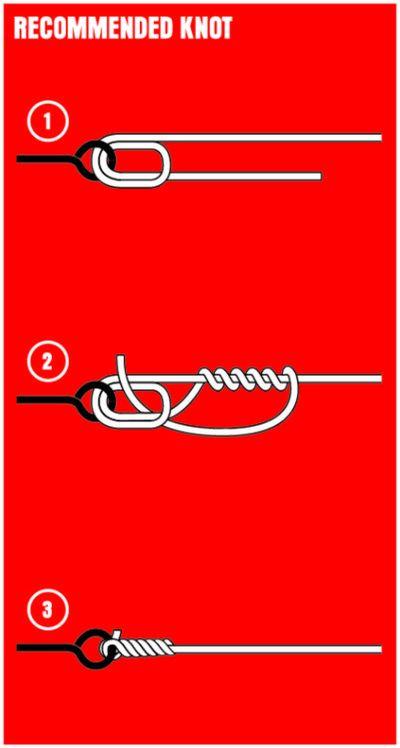 - Knoten für geflochtene Schnur