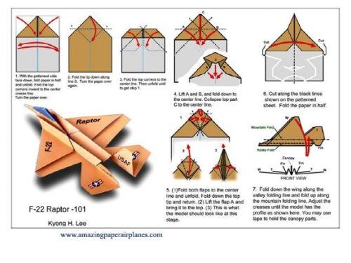 Оригами из бумаги схемы самолётов