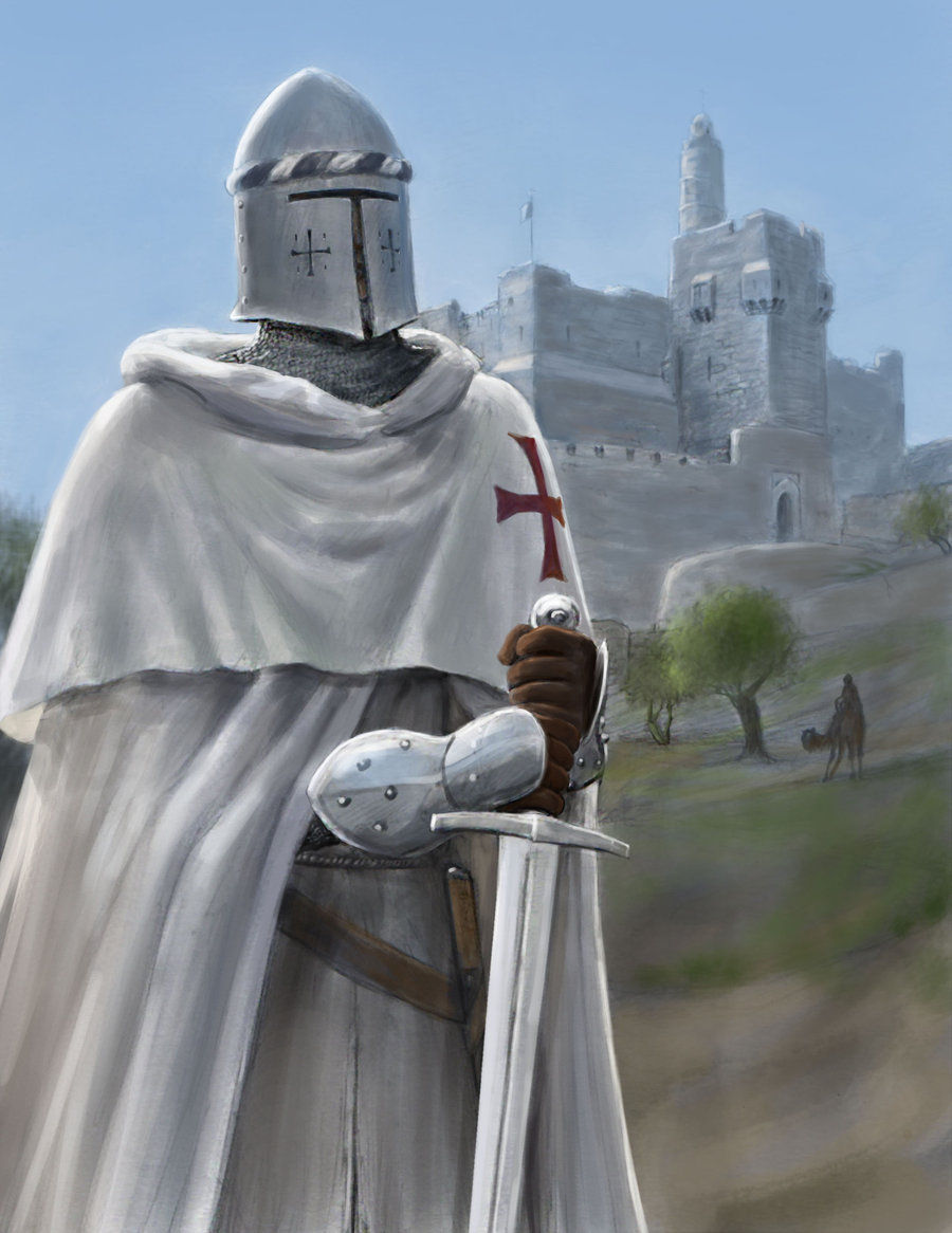 The white knights templar knights for The knights templat