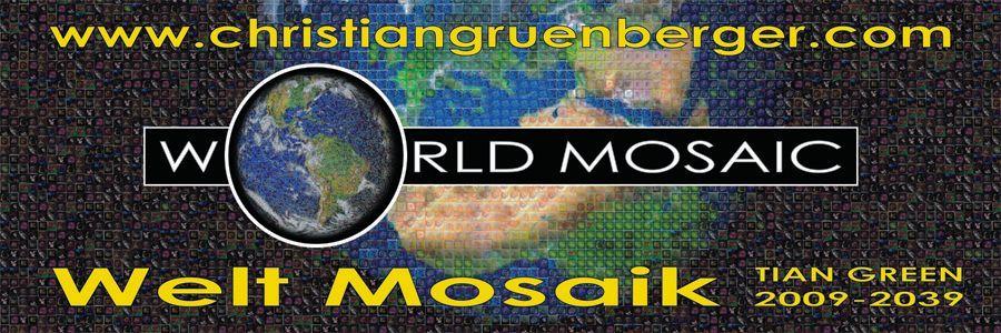 Menschen vereint im Welt Mosaik! Ein Projekt vom K�nstler TIAN GREEN - www.christiangruenberger.com !