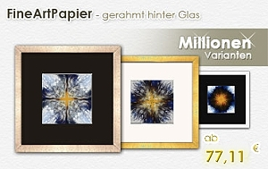 Fine Art Papier - gerahmt hinter Glas