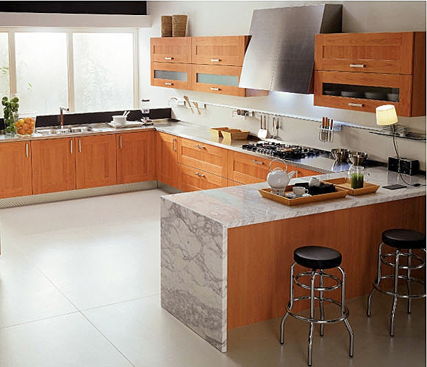 cocina con marmol imagui