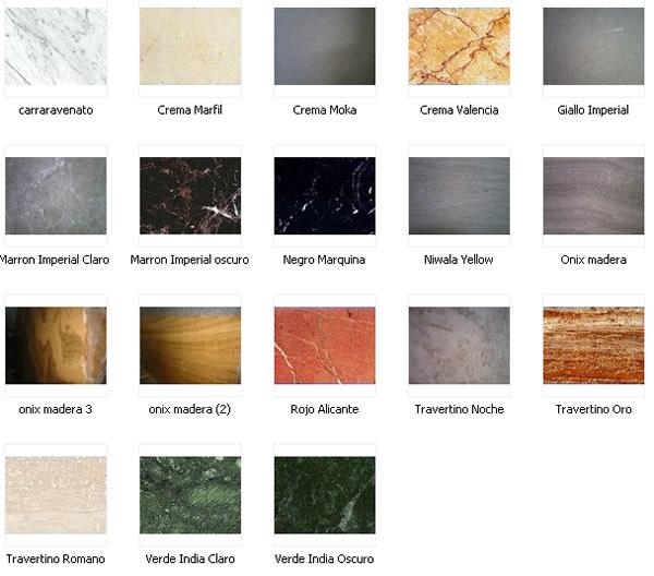Muebles y decoraciones de marmol y granito carias for Colores marmoles cocina