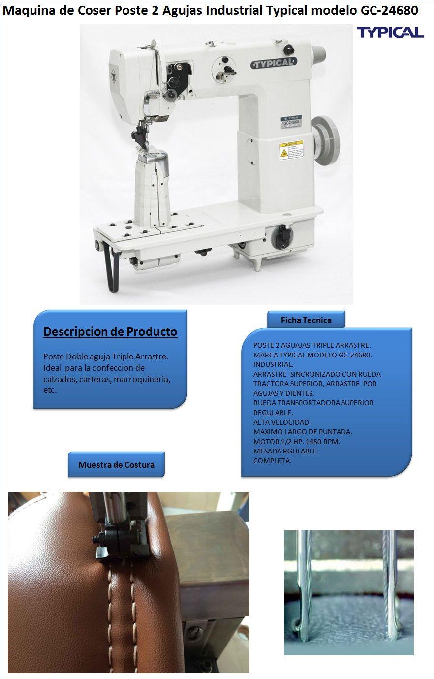 Maquina De Coser Poste 2 Agujas Typical Modelo Gc-24680 | Lider ...