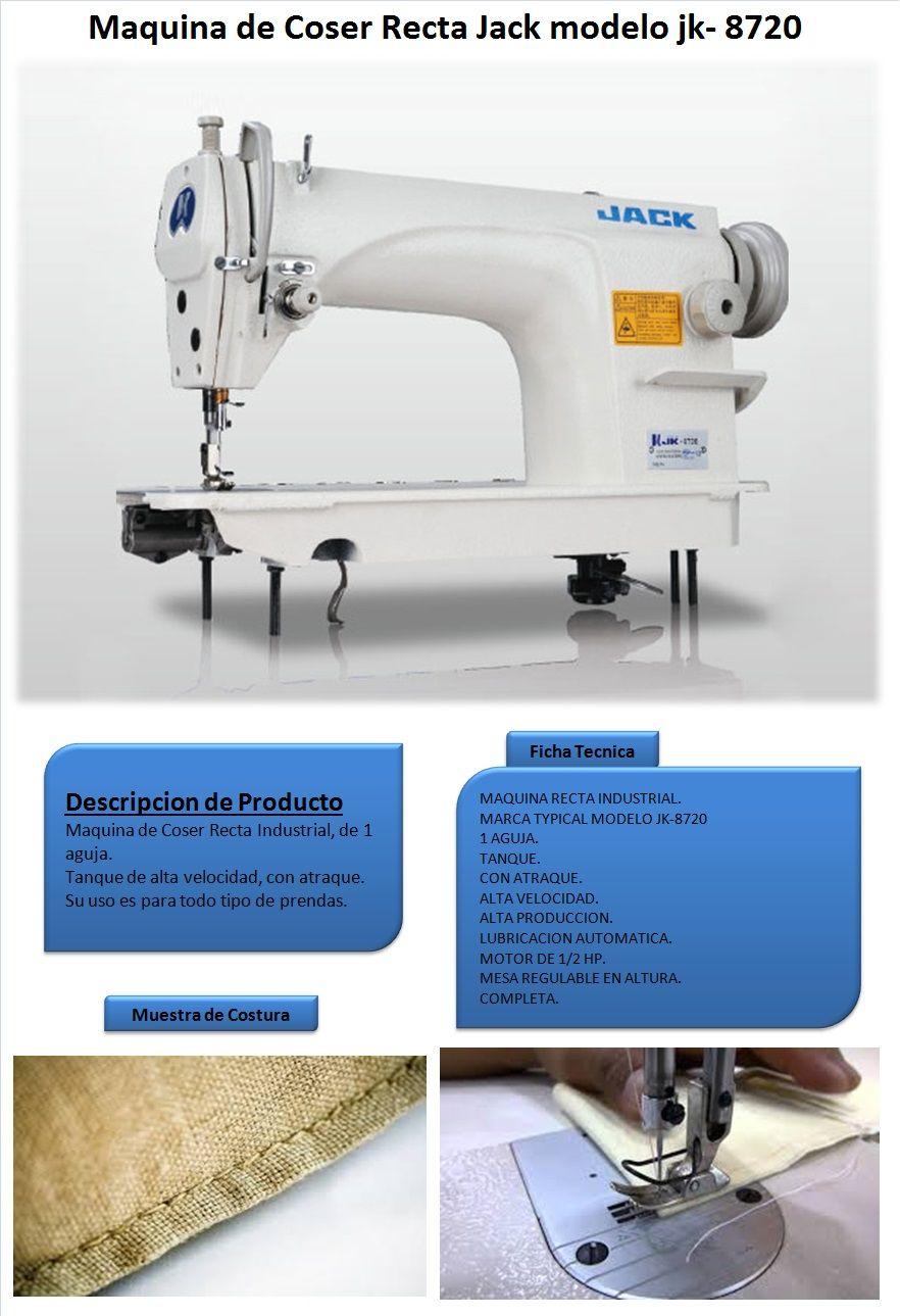 Maquina De Coser Recta Jack Jk8720 Industrial | Lider