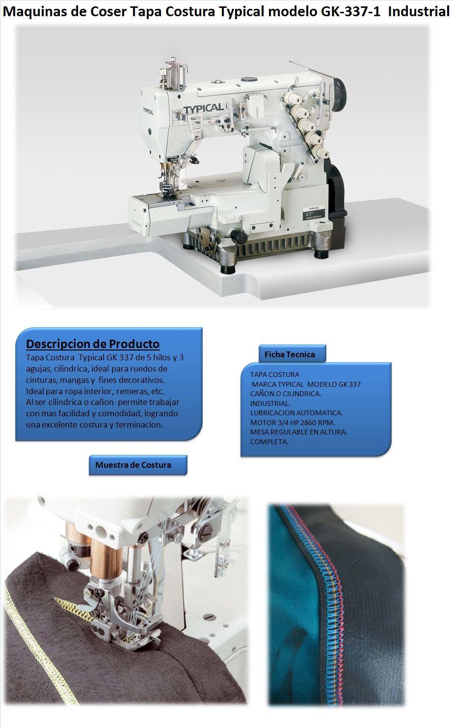 Maquina De Coser Tapa Costura Cañon Typical Modelo Gk-337-1 | Lider ...