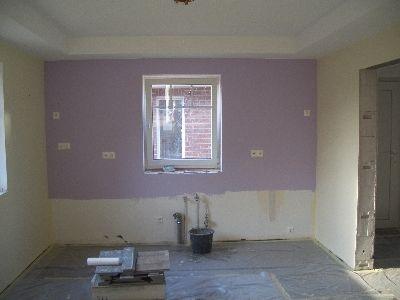 Unsere Baustelle Fliesen und Tapete Laminat und Farbe